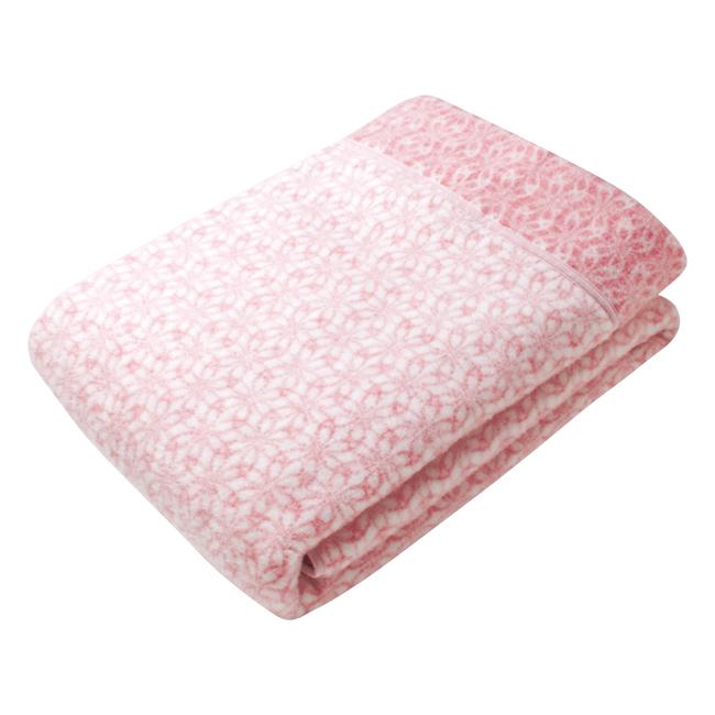 和布小紋 クリル衿付合せ毛布1枚(毛羽部分) No.250 (ピンク)