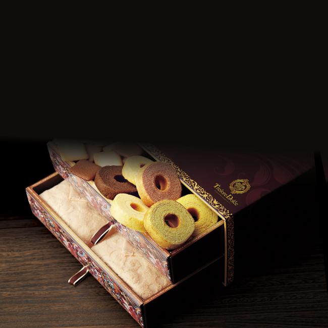 Tresore Dolce [宝石箱]フルーツカラーバウム&今治産タオル No.80